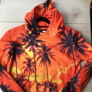 Other - Boys Size L Orange Hawaiian Hoodie Sweatshirt
